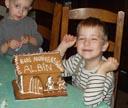 La maison en pain d'épice faite par maman pour l'anniversaire d'Albin
